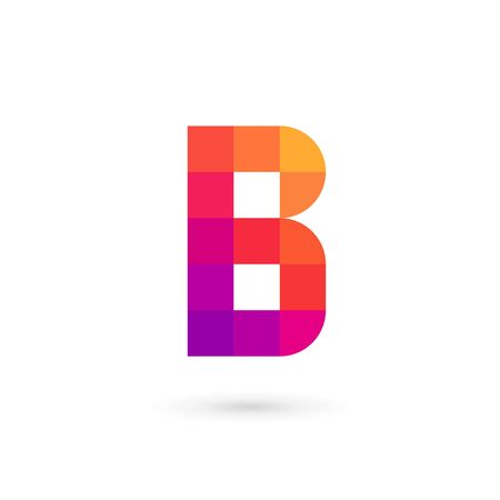 abstract template: Letter B mosaic logo icon design template elements