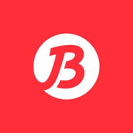 Letter B logo icon design template elements. Logo