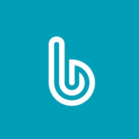 White letter B logo icon design template elements. Illustration