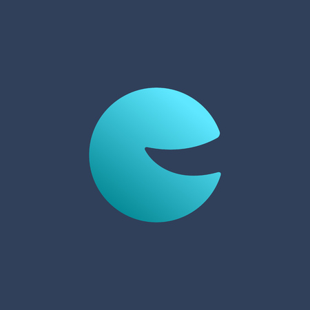unusual: Letter C smile icon design template elements