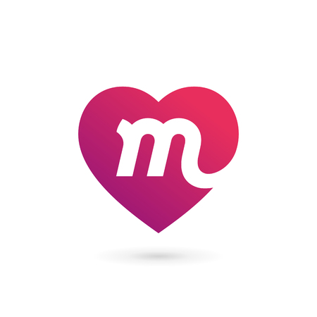 Letter M Heart Stock Photos And Images 123rf