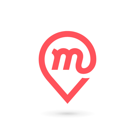 Letter M icon. Ilustracja