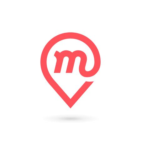 Letter M icon. Illustration