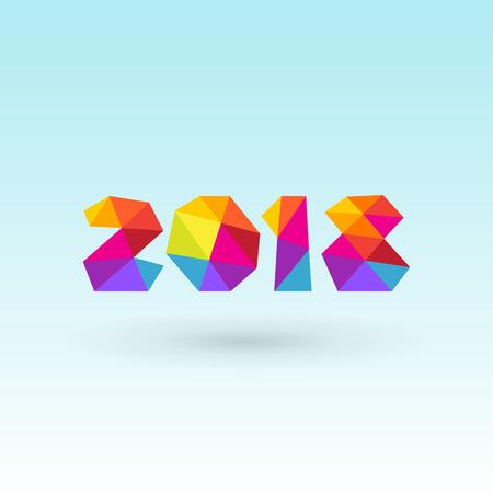 Happy new year 2018 greeting card design Illustration