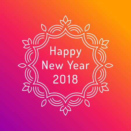 Happy new year 2018 greeting card design royalty free cliparts 89830928 happy new year 2018 greeting card design m4hsunfo