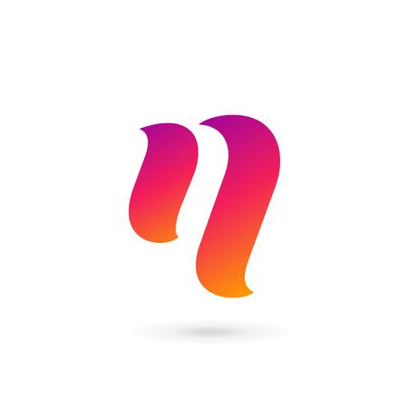 Letter N logo icon design template elements Illustration