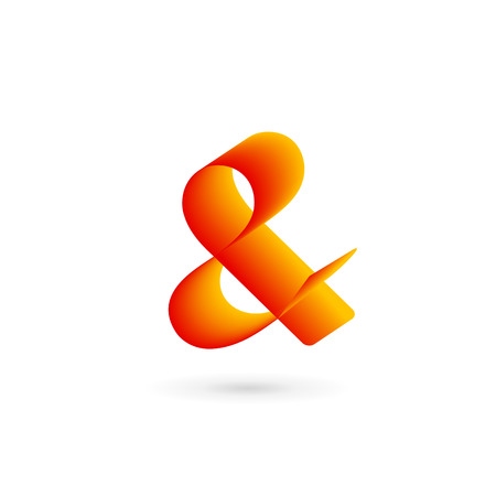 Symbol & and ampersand logo icon design template elements Illustration