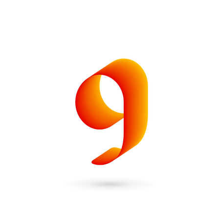 Letter G number 9 logo icon design template elements 矢量图像