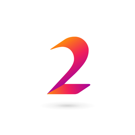 Number 2 icon design template elements