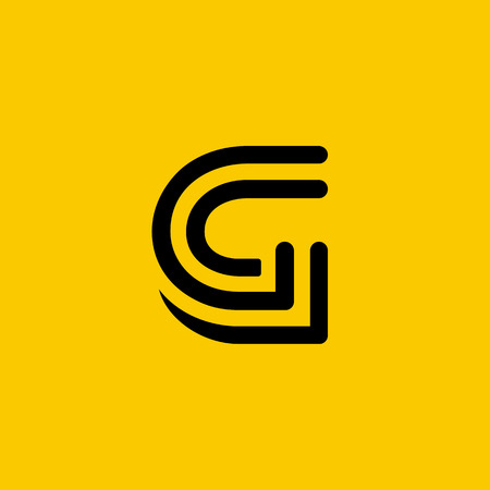 Letter G logo icon design template elements 일러스트