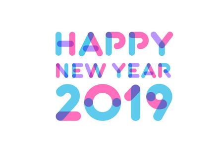 Felice anno nuovo 2019 design biglietto di auguri