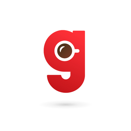 Letter G coffee logo icon design template elements 일러스트