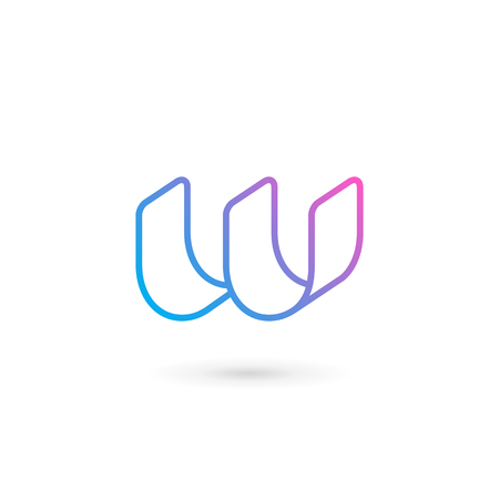 Letter W logo icon design template elements Illusztráció