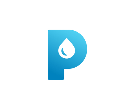 Letter P water drop logo icon design template elements 向量圖像