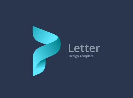 Letter P logo icon design template elements Ilustração