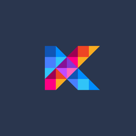 Letter K icon design template elements