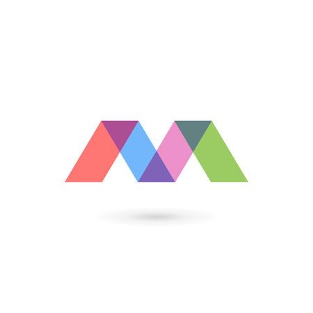 Elementos de plantilla de diseño de icono de letra M