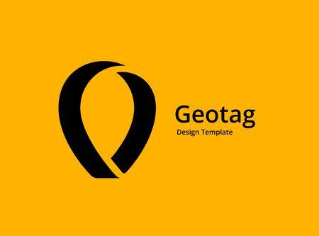 Geotag lub projekt ikony logo pinezki lokalizacji Logo