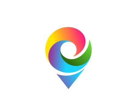 Geotag or location pin icon design  イラスト・ベクター素材