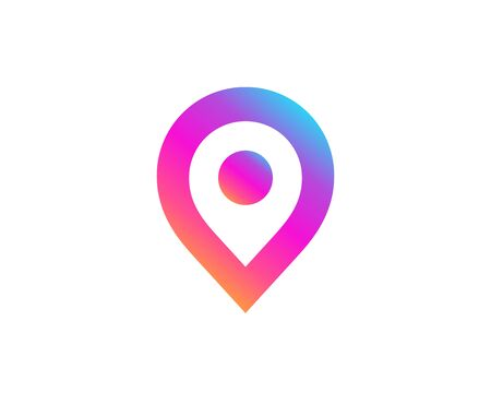 Geotag or location pin icon design Vectores