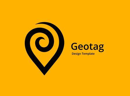 Diseño de icono de logotipo de pin de ubicación o geoetiqueta Logos
