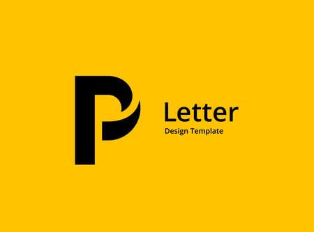 Letter P logo icon design template elements Ilustracja