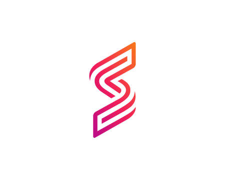 Letter S or number 5 logo icon design template elements Ilustracja