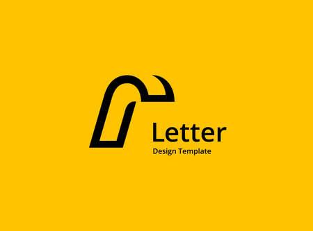Letter R icon design template elements