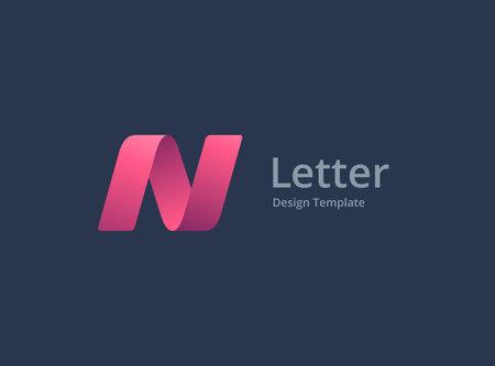 Letter N logo icon design template elements Ilustracja