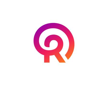 Letter R logo icon design template elements Ilustracja