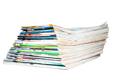 a stack of old magazines Stock Photo