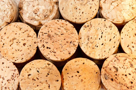 abstract background of corks from champagne