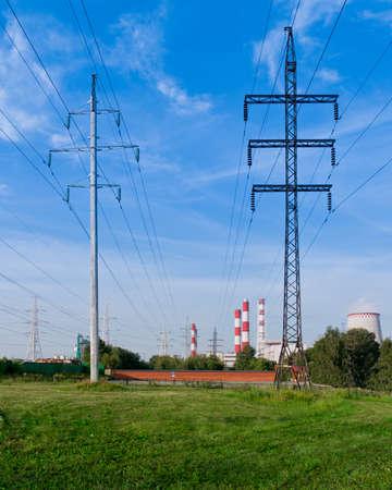 High pole against the blue sky
