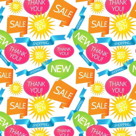 Bright seamless pattern on shopping theme Illustration