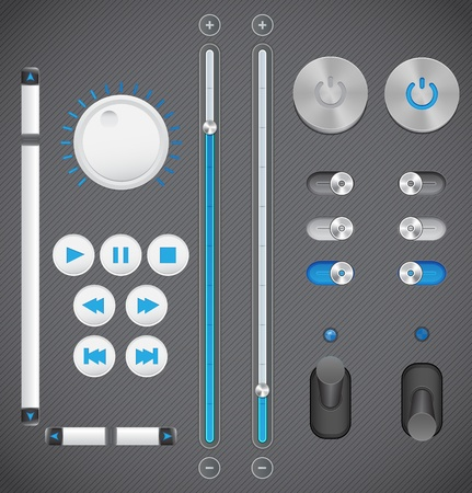 Graphic User Interface Set Vector