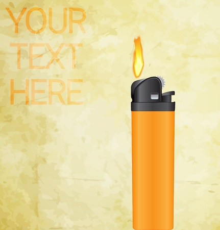 lighter with fire concept Illustration