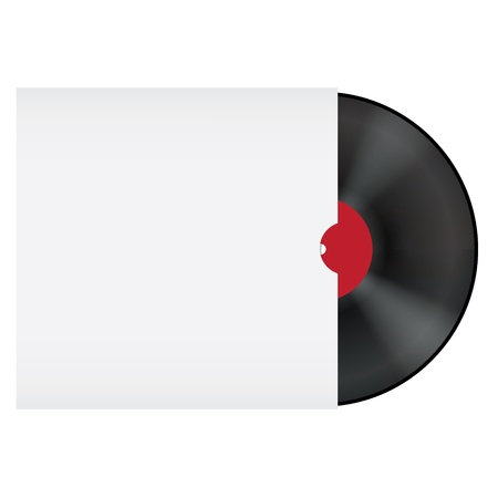Vinyl record in blank envelope Stock Vector - 13657557
