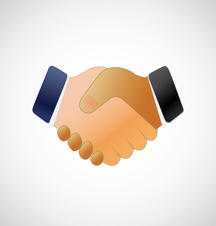 business agreement: Handshake icon Illustration