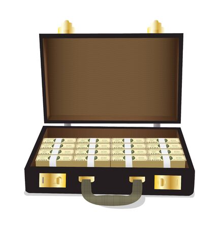 Case with dollars