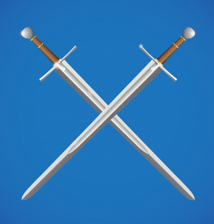 honor guard: Two swords crossed Illustration
