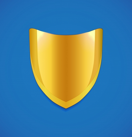 Golden shield icon Vector