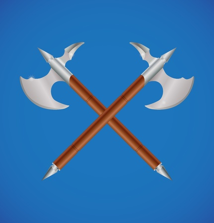 crossed battle axes Vector