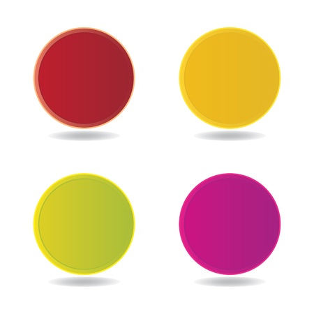 plain button: Vector blank badge template illustration