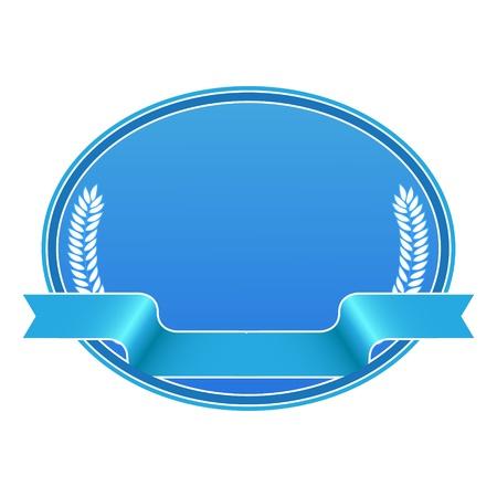 Blue blank label shield