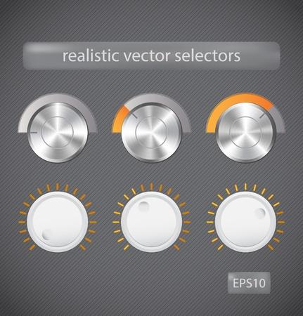 Realistic selectors Illustration