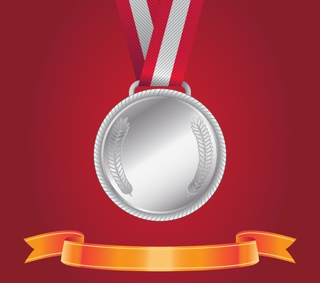 Silver Medal Stock Vector - 15998250