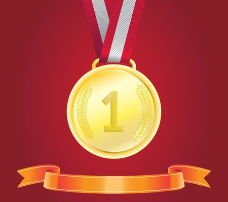 Golden Medal, vector Stock Vector - 18124130
