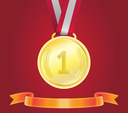 Golden Medal, vector Illustration