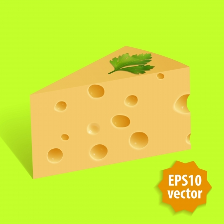 Vector piece of cheese Illustration