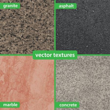 Granite, asphalt, marble and concrete textures